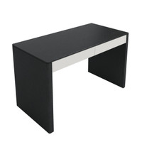 TAYLOR Desk Black Oak with White