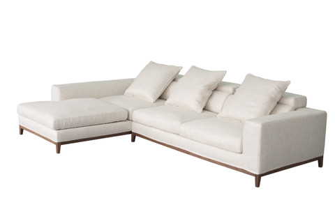 Oslo sofa 3 seater long chaise left cityside furniture for Chaise long sofa