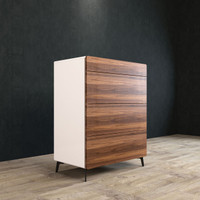 BRANDO Tallboy 80cm Walnut and White
