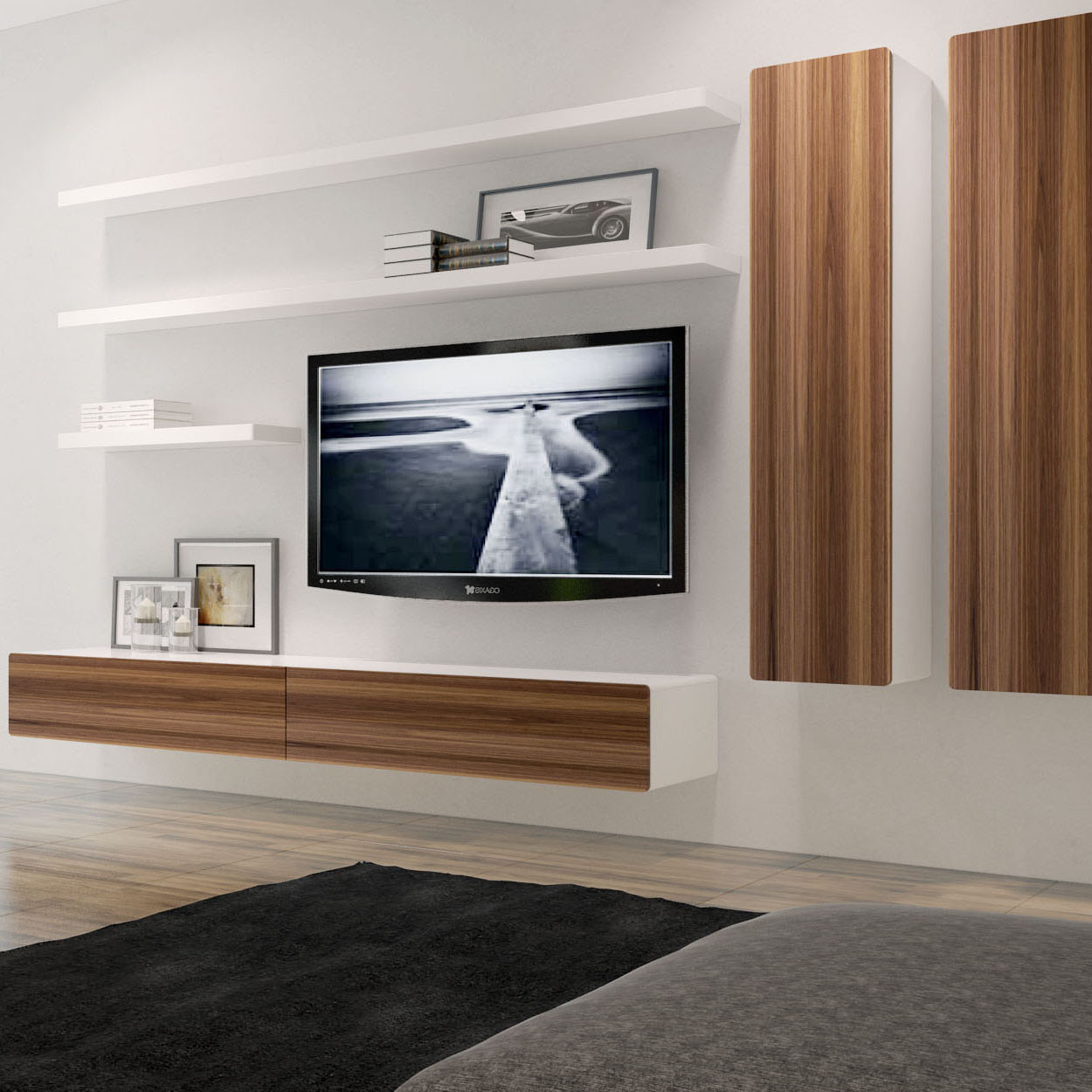 Wall Mounted Wood Shelves Best Home Design And