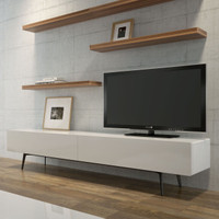 BRANDO Wall Composition 403A  White & Walnut