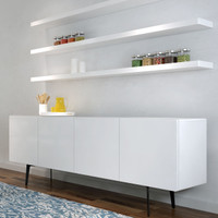 BRANDO Sideboard with Shelves 403 White Gloss
