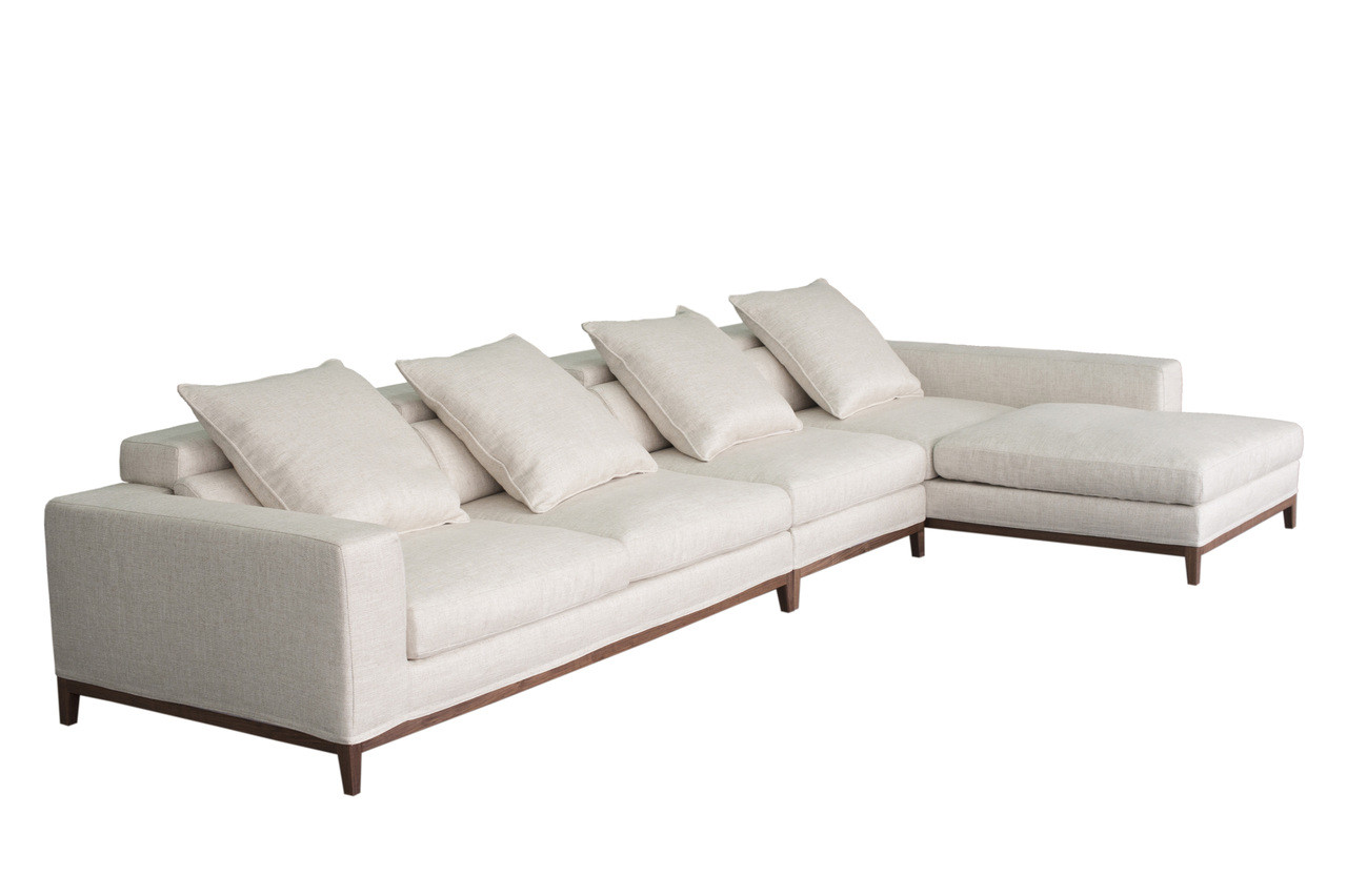 Oslo sofa 4 seater long chaise right cityside furniture for Chaise long sofa
