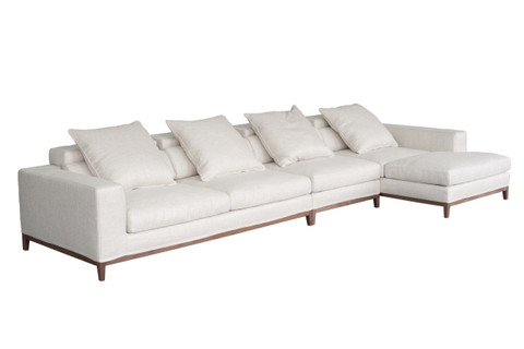 Oslo sofa 4 seater compact chaise right cityside furniture for Chaise oslo