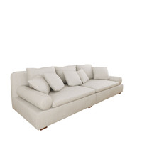 MANSION Sofa 4 Seater - Cream with Mushroom Fleck [Heavy Weave]