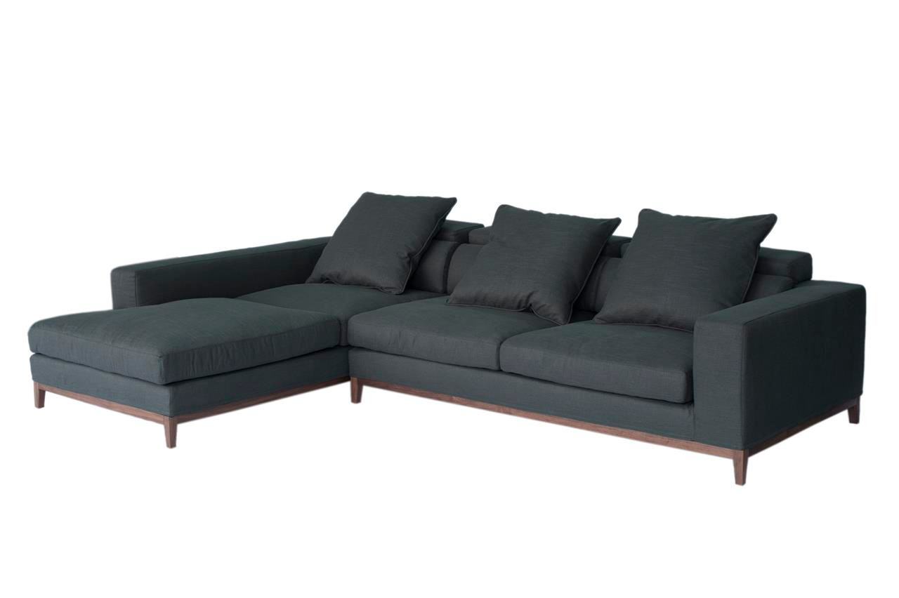 Oslo sofa 3 seater long chaise left grey fine weave for Chaise oslo but