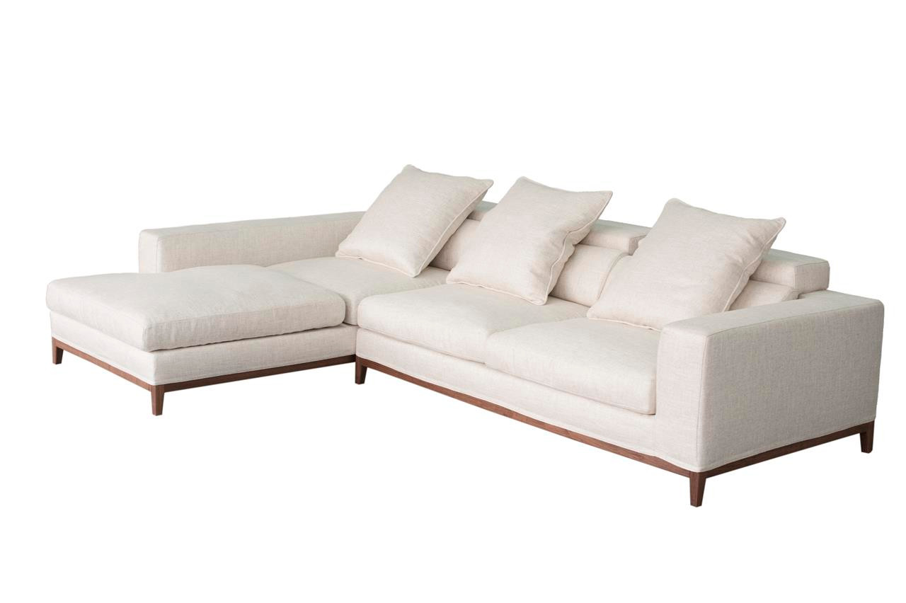 Oslo sofa 3 seater long chaise left cream soft to the for Chaise oslo but
