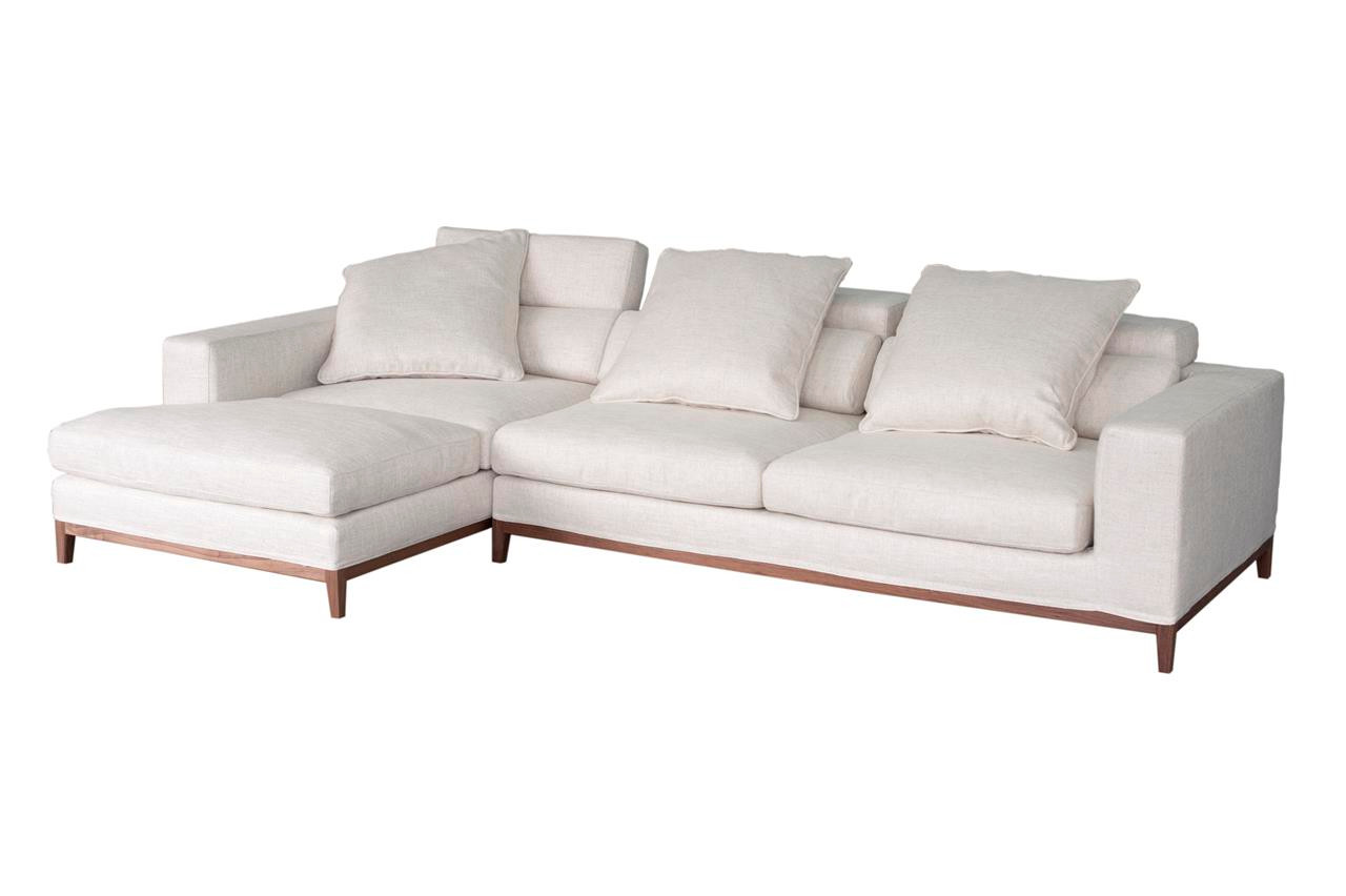Oslo sofa 3 seater compact chaise left cream soft to for Chaise oslo but