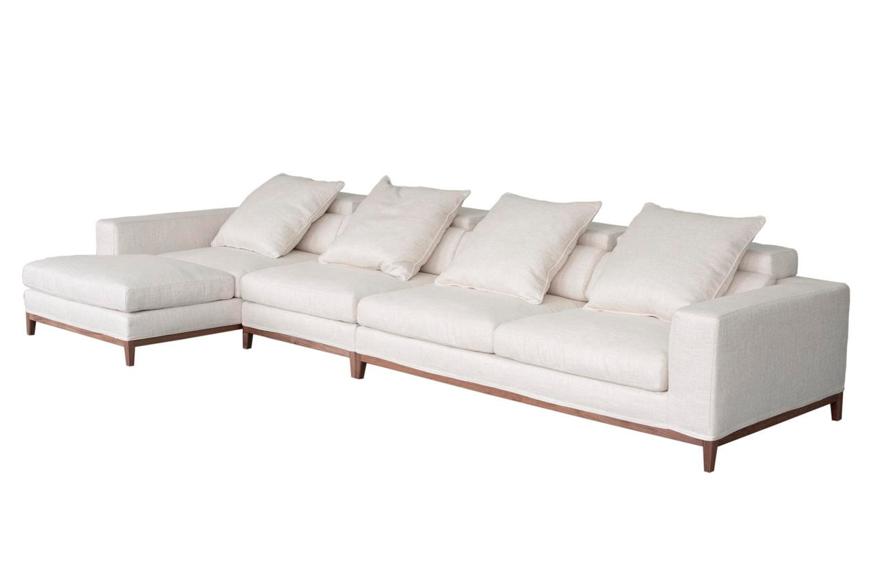 Oslo sofa 4 seater compact chaise left cream soft to for Chaise oslo but