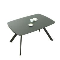 STADIUM Extendable Dining Table140/175/210 cm  Grey Glass top & Legs