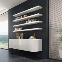 BRANDO Sideboard with Shelves 404 White Gloss