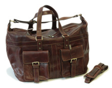 Gorgeous Safari travel bag from Italy-100% finest italian leather