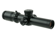 1.5-8x26 35mm SFP TRIDENT TACTICAL .308 BDC KNOB W/ CQB-X1 SUPERBRIGHT RETICLE