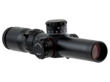 1.5-8x26 35mm SFP TRIDENT TACTICAL 1/4 MOA KNOBS, CQB .223 RETICLE OR GERMAN 4A DOT SUPER BRIGHT RETICLE