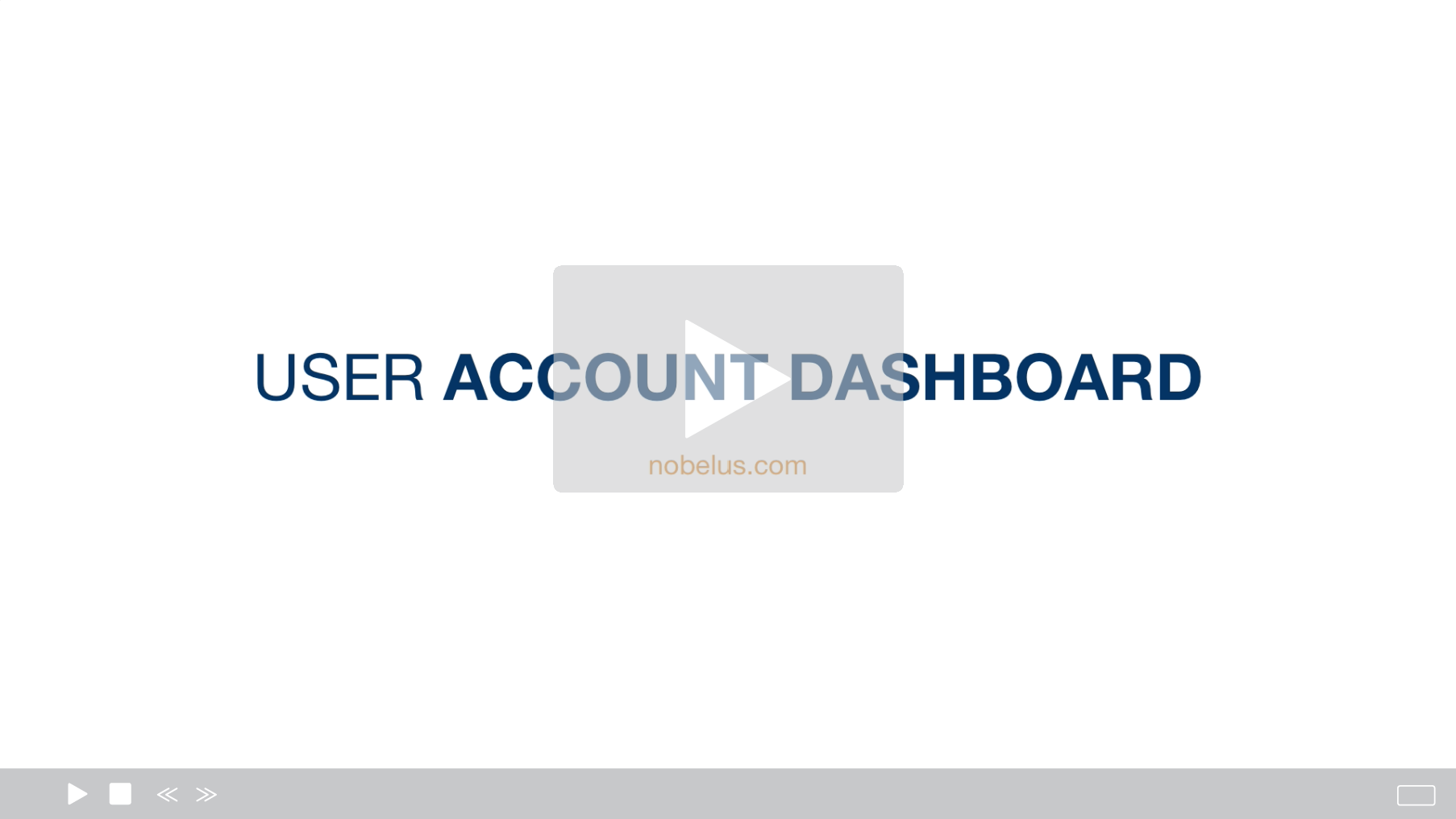 User Account Dashboard