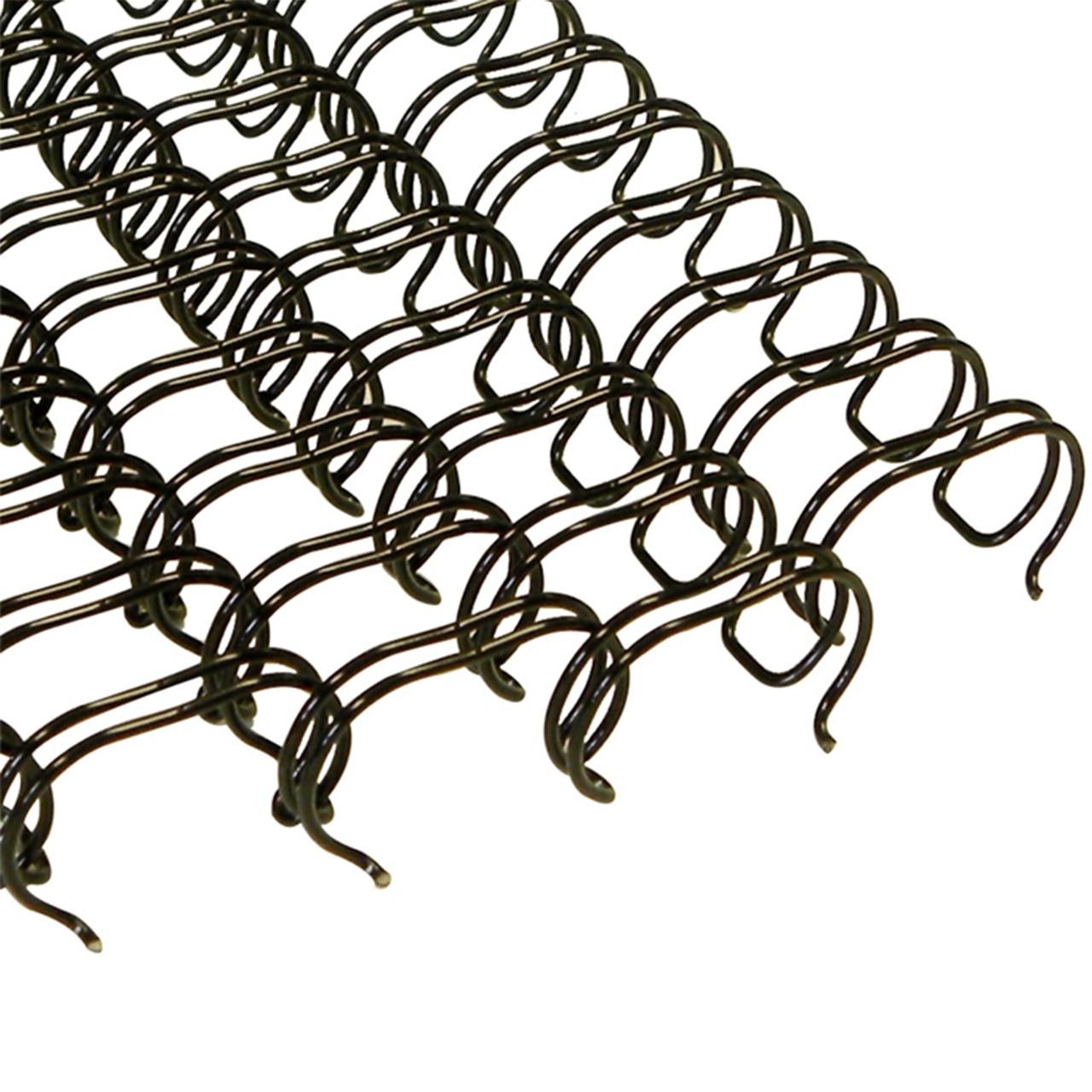 BindAply™ Double-Loop Wire - 3:1 Pitch - Black - Nobelus