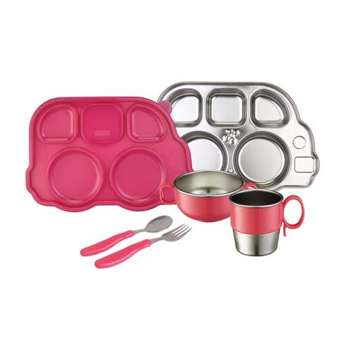 Din Din SMART??Stainless Mealtime Set - Pink