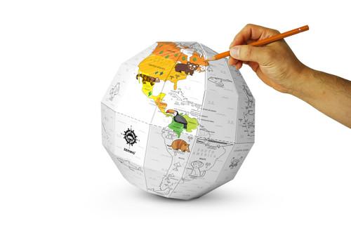 3D Paper Globe Puzzle - DIY
