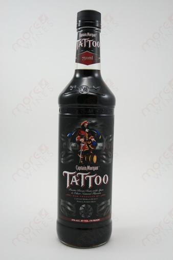 captain morgan tattoo rum 750ml morewines. Black Bedroom Furniture Sets. Home Design Ideas
