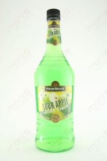 Hiram Walker Sour Apple Schnapps 1L