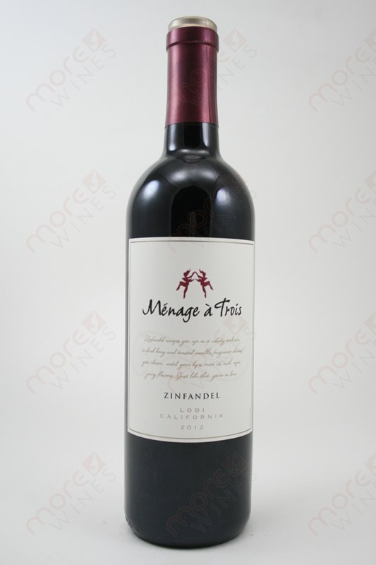 menage a trois zinfandel 2012 750ml morewines. Black Bedroom Furniture Sets. Home Design Ideas