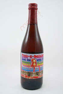 Oceanside Ale Works Funk-n-Delicious Barrel Aged Lambic style Strawberry Aardbei Sour 750ml