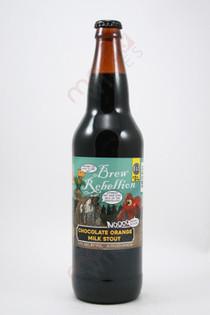 Brew Rebellion Chocolate Orange Milk Stout 22fl oz