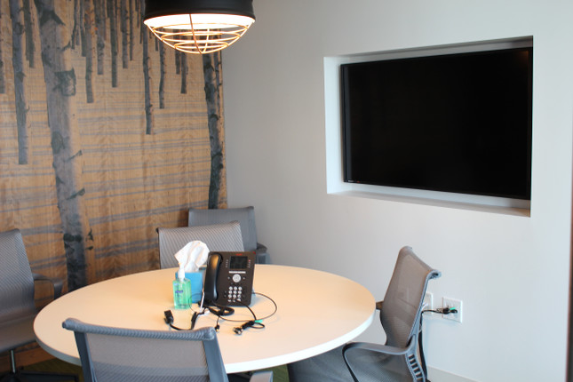 Huddle Room with Recessed Monitor