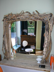 Sculptured Driftwood Salon Mirror