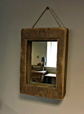 Shabby Rope hung  Wall Mirror