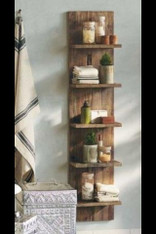 Modern Rustic Reclaimed wooden bathroom / Kitchen shelving unit