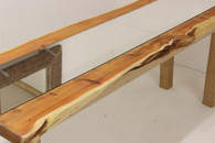 Mirrored Yew Refrectory Dining table