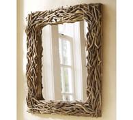 Sun bleached Driftwood mirror