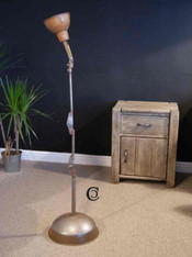 Industrial anglepoise machine lamp floor standing