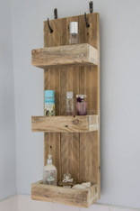 Wooden  box storage shelving unit