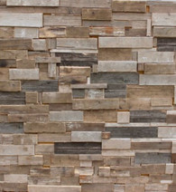 Real Solid Wood Salvaged Scrap Wood Wall Panel