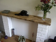 Rustic Reclaimed Wooden Mantel Beam