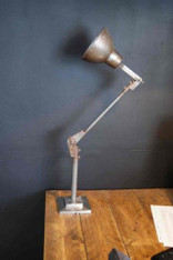 Industrial Vintage retro Antiqued metal Anglepoise Machinist lamp 60cm