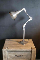Industrial retro Vintage Antiqued metal Anglepoise Machinist lamp 75cm