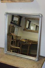 Industrial Pipe Frame Mirror