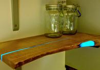 ''Aurora'' Hardwood Shelf