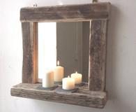 """Crosbie"" Driftwood mirror"