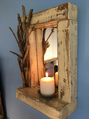 Whitewashed Driftwood Mirror