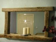 Driftwood Mirror with shelf