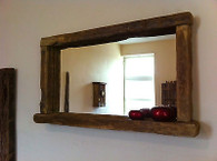 Rustic Farmhouse Mirror with shelf
