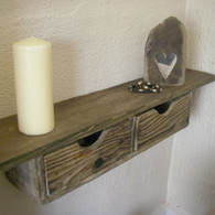 Rustic Driftwood Floating Drawer Shelf