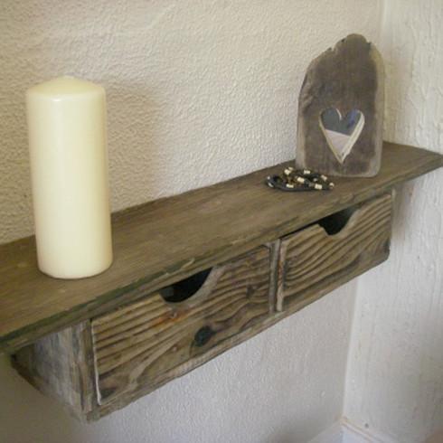 Rustic Driftwood Floating Drawer Shelf Driftwood Interiors