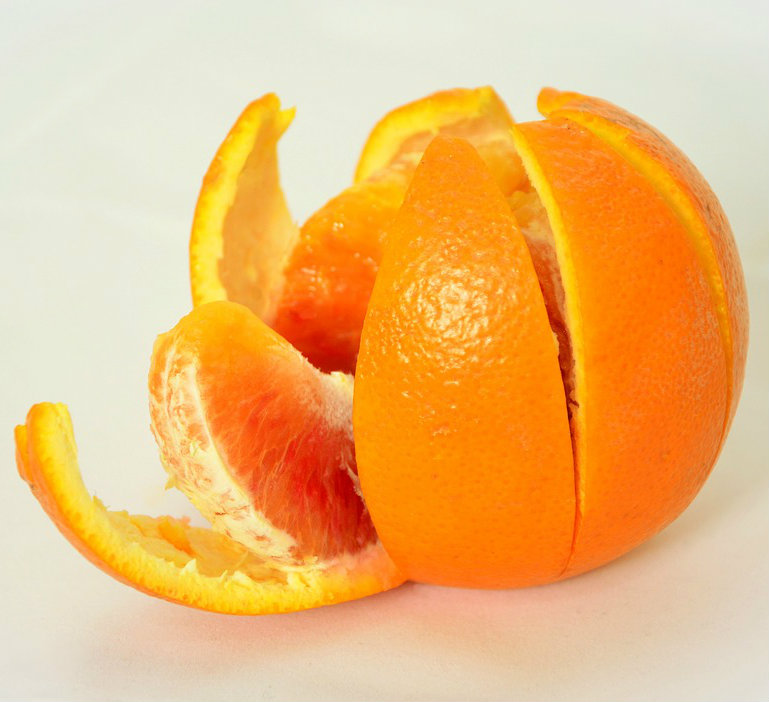 Orange and orange peel, orange rind