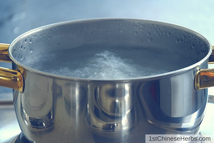 Step 4: Boil the water.