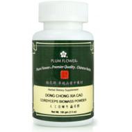Cordyceps Mushrooms (Dong Chong Xia Cao) - Powder Form 100 Gram Bottle - Plum Flower Brand